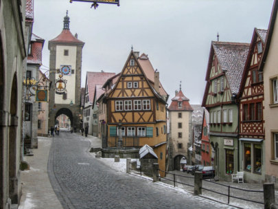 Rothenburg ob der Tauber sotto la neve